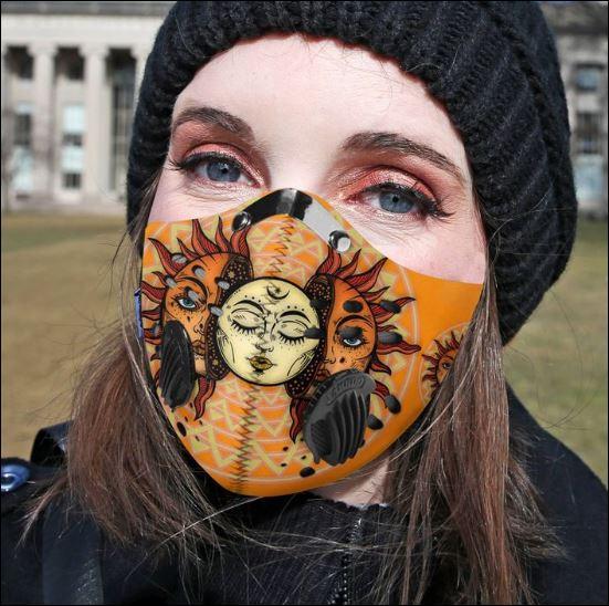 Hippie sun filter activated carbon Pm 2.5 Fm face mask
