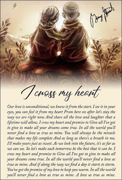 I cross my heart lyrics George Strait signature poster