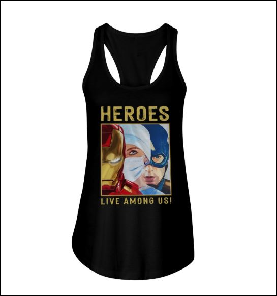 Iron Man Captain America Nurse heroes live among us tank top