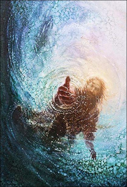 Jesus he saved me poster