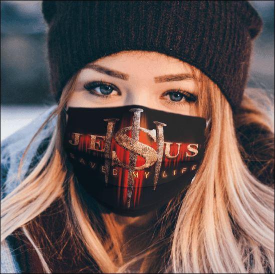 Jesus save my life face mask