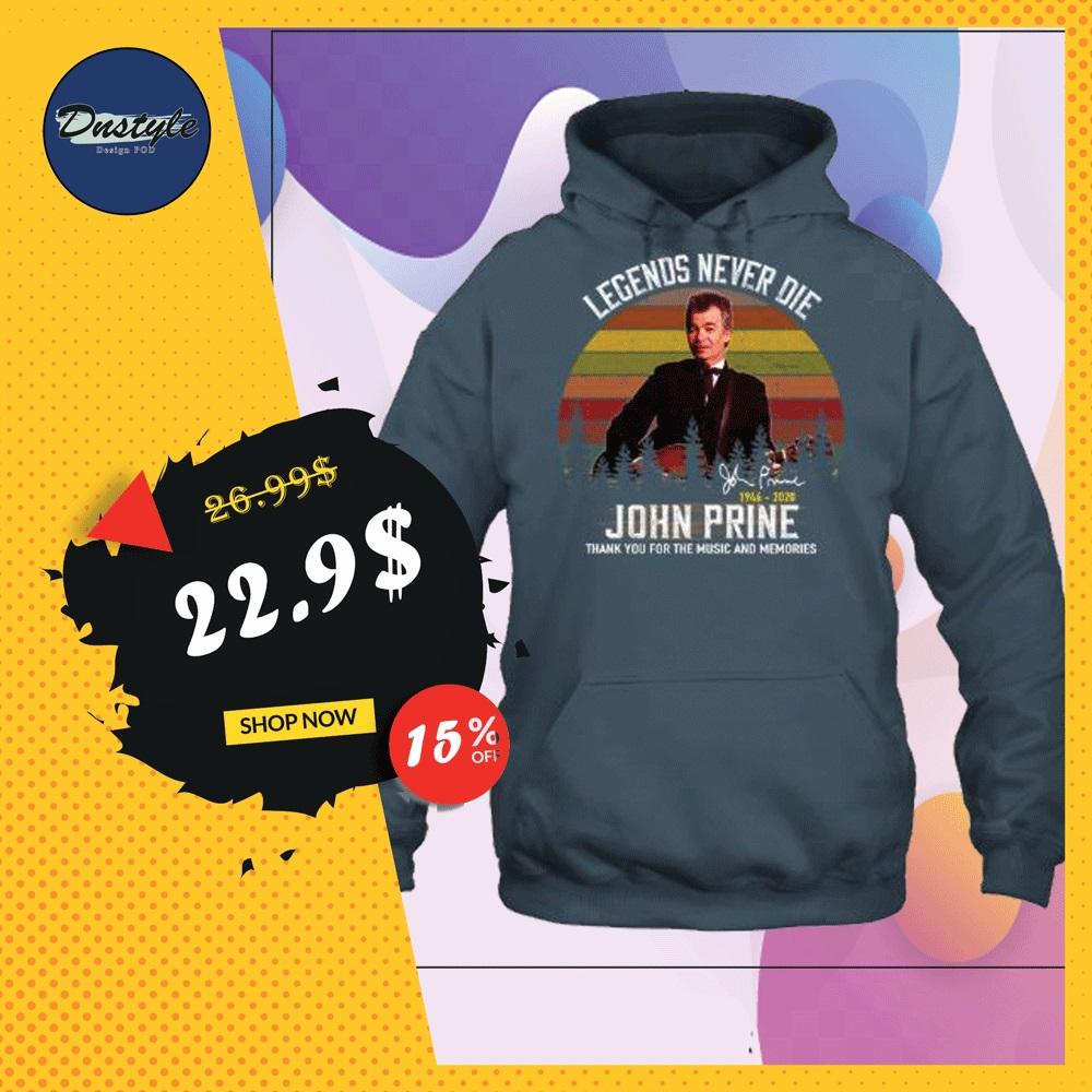 John Prine legends never die 1946 2020 signature vintage hoodie