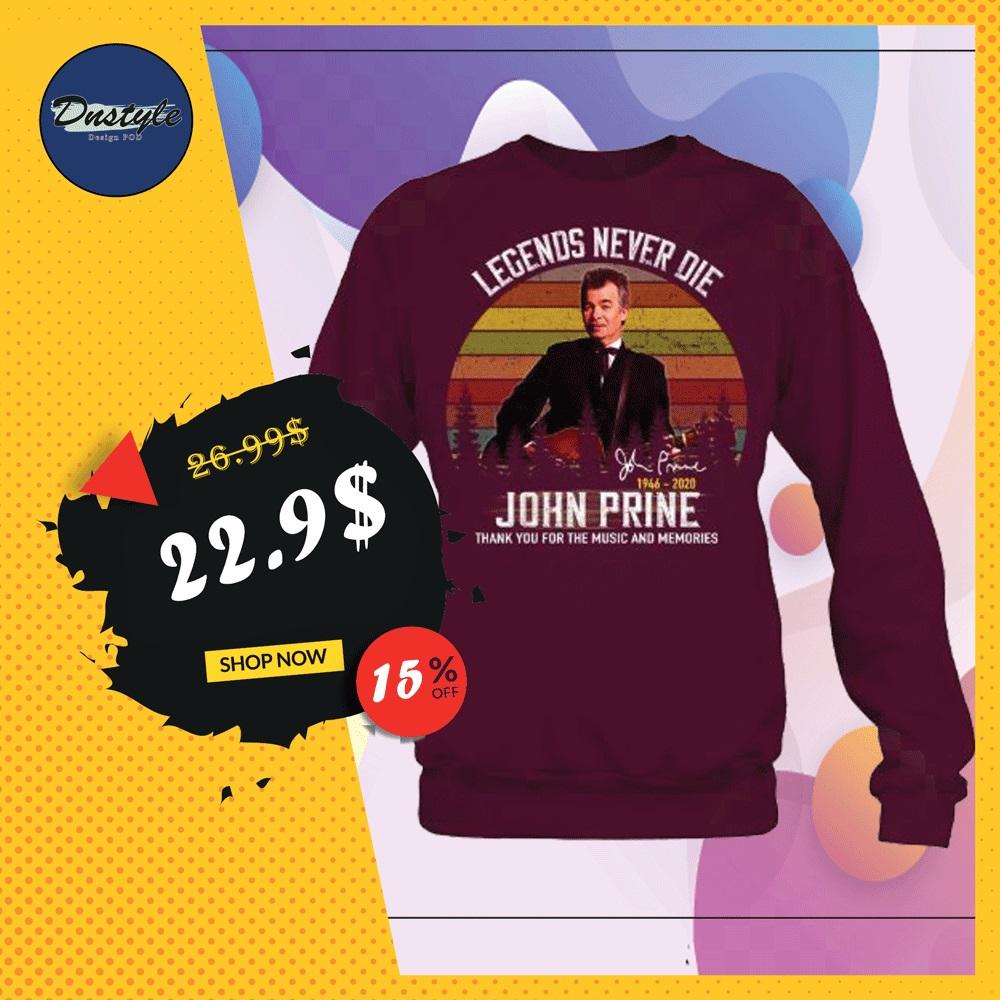 John Prine legends never die 1946 2020 signature vintage sweater
