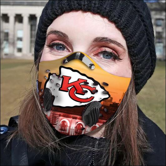 Kansas City Chiefs filter activated carbon face mask