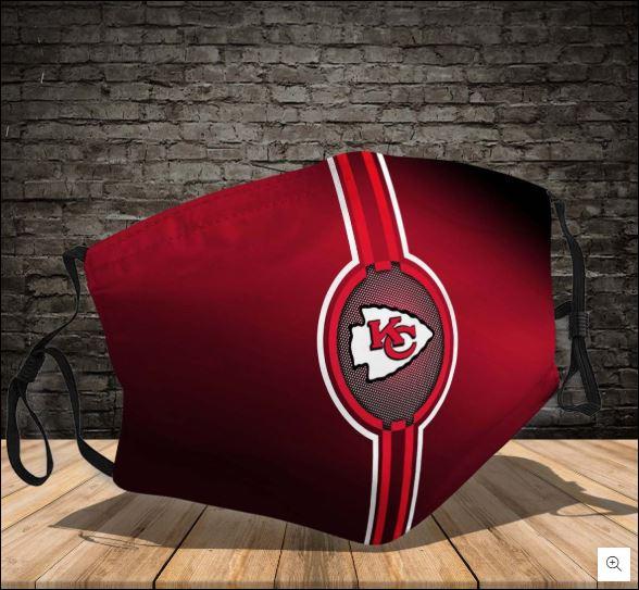 Kansas City Chiefs logo face mask
