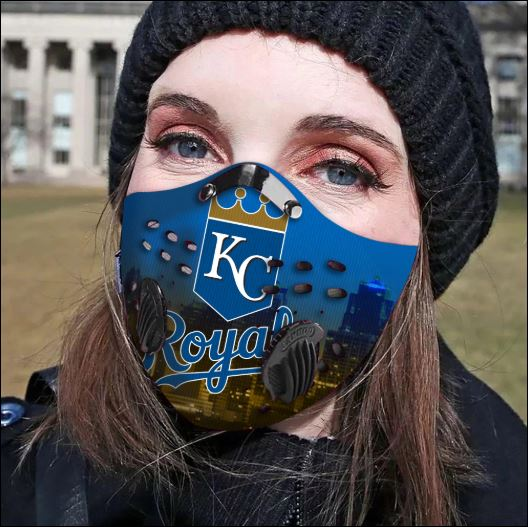 Kansas City Royals filter activated carbon face mask