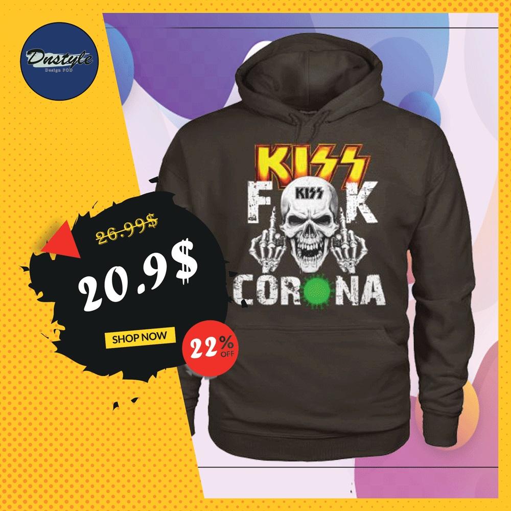 Kiss band fuck corona hoodie