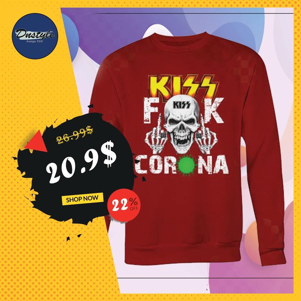 Kiss band fuck corona sweater
