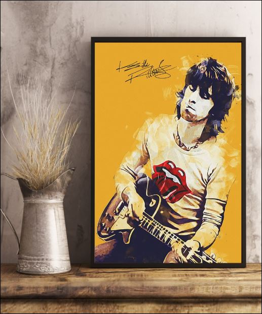 Legend Keith Richards vertical signature poster