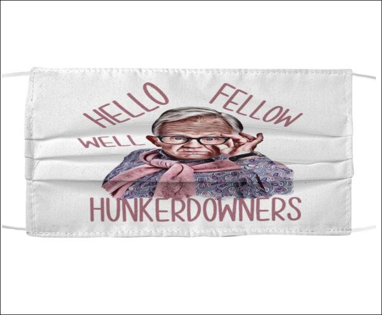 Leslie Jordan hello fellow well hunkerdwners face mask
