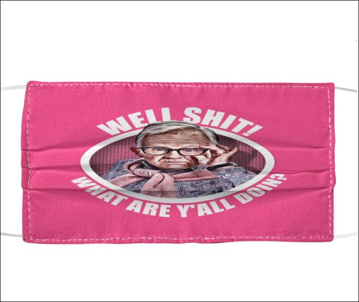 Leslie Jordan well shit what are y'all doin' vintage cloth face mask