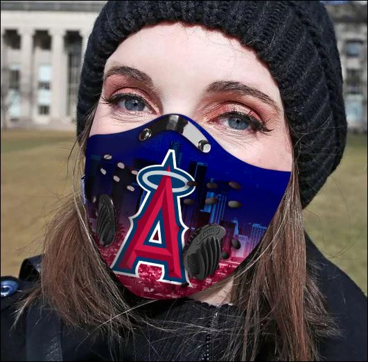 Los Angeles Angels filter activated carbon face mask