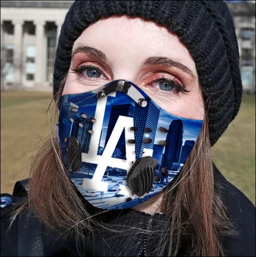 Los Angeles Dodgers filter activated carbon face mask