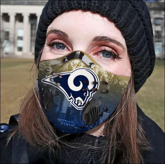 Los Angeles Rams filter activated carbon face mask