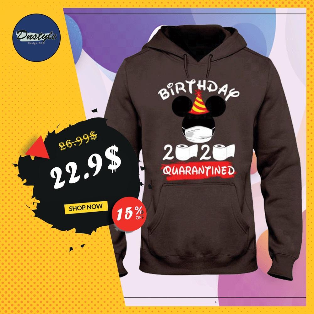 Mickey mouse birthday 2020 quarantine hoodie