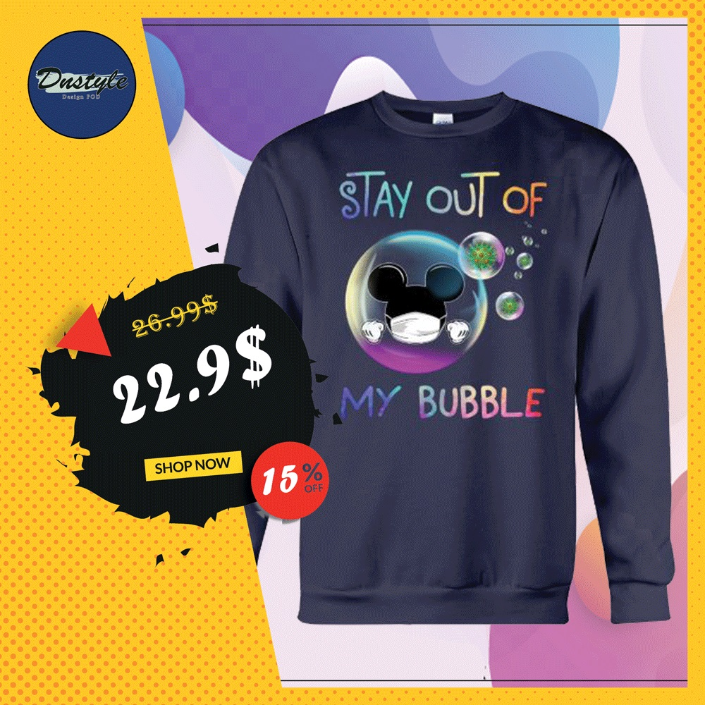 Mickey mouse stay out of my bubble coronavirus sweater