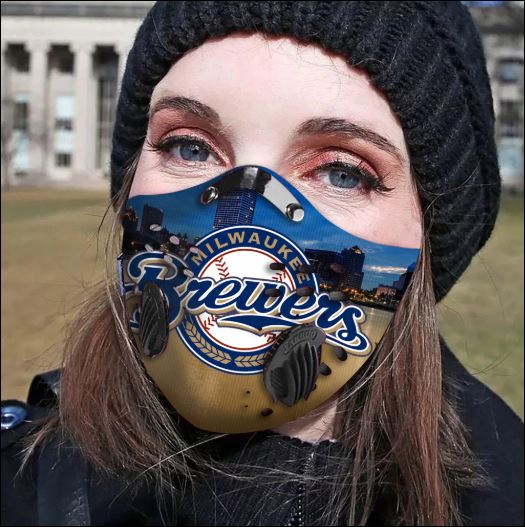 Milwaukee Brewers filter activated carbon face mask