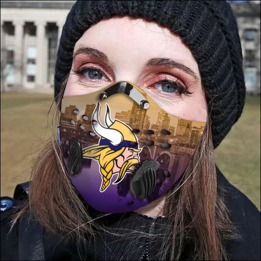 Minnesota Vikings filter activated carbon face mask