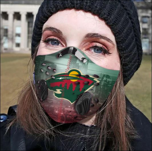 Minnesota Wild filter activated carbon face mask