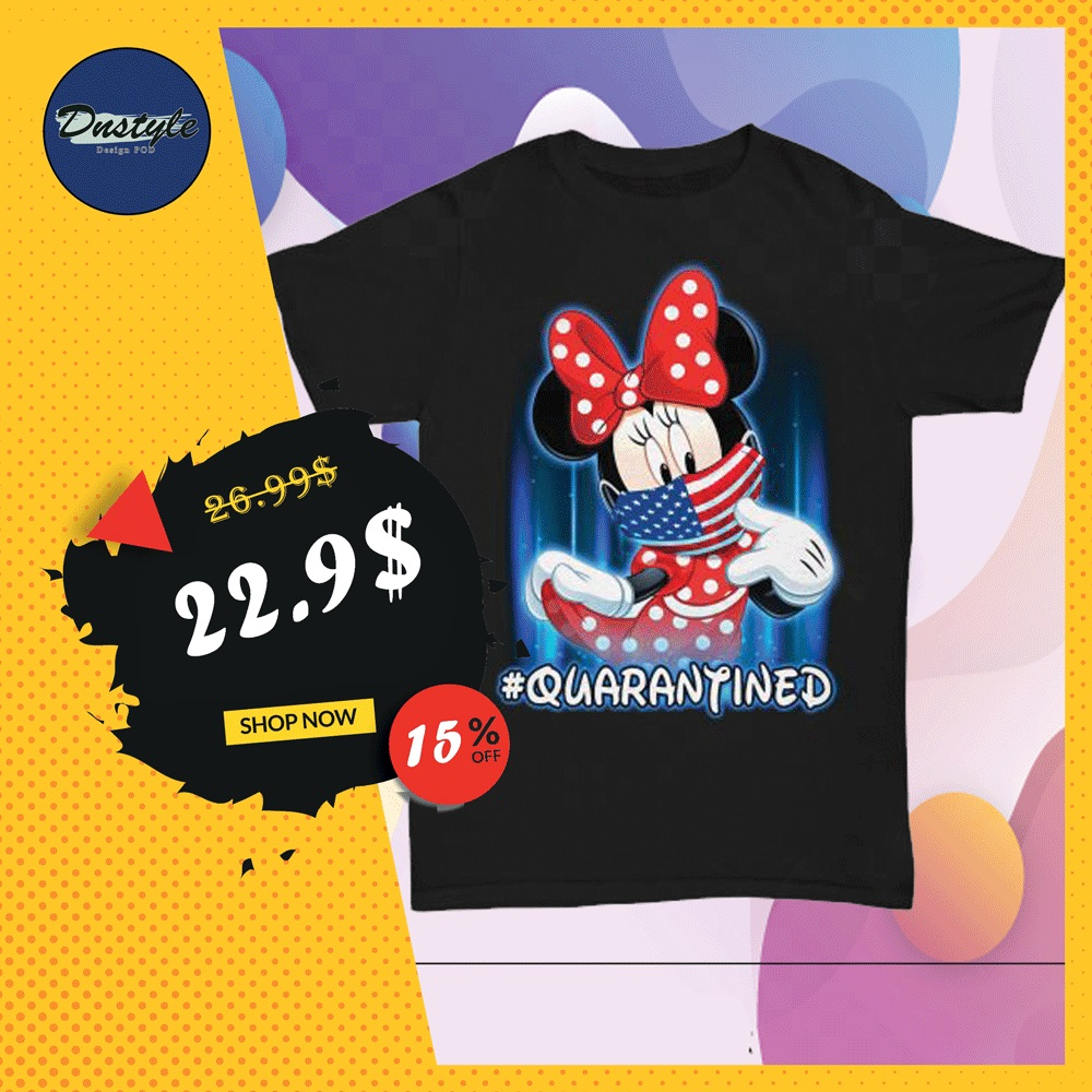 Minnie mouse wearing American mask quarantined shirt
