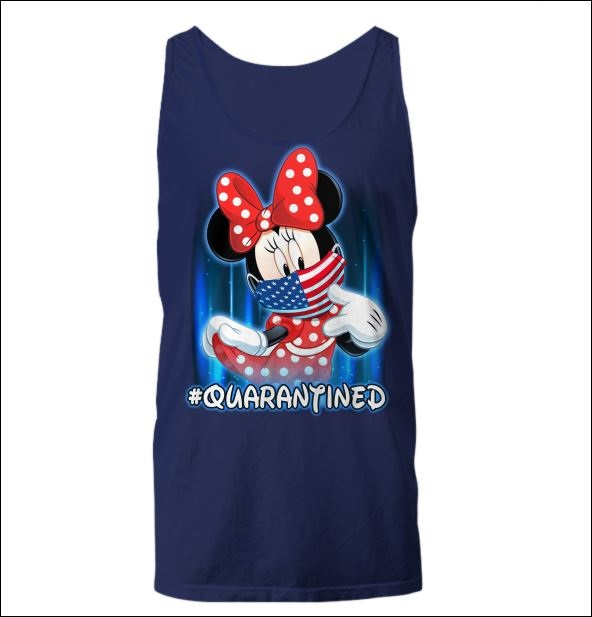 Minnie mouse wearing American mask quarantined tank top