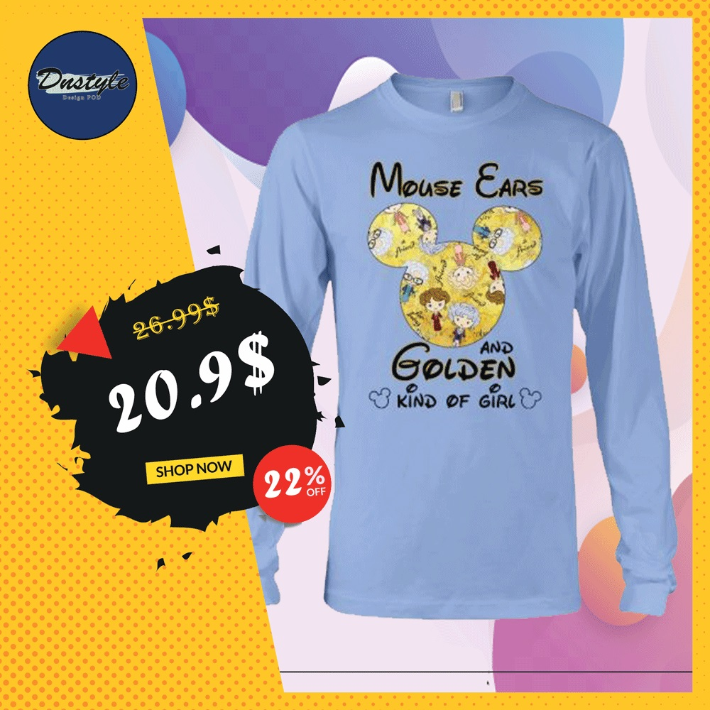 Mouse ears and Golden kind of girl long sleeved
