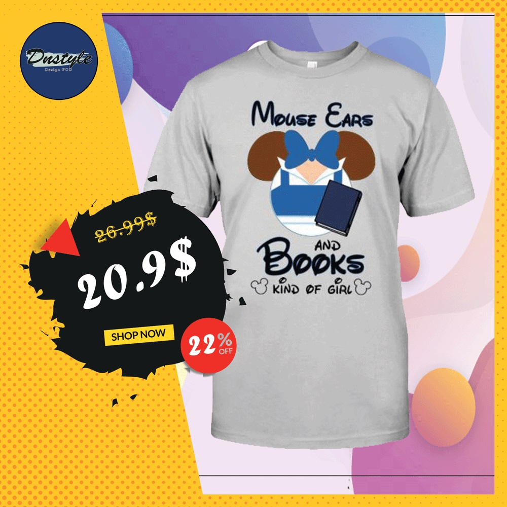 Mouse ears and books kind of girl shirt