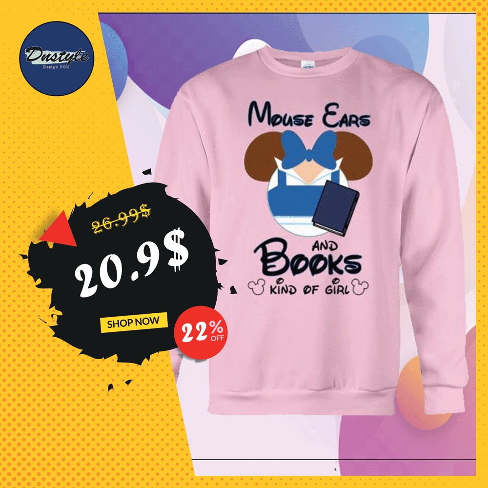 Mouse ears and books kind of girl sweater