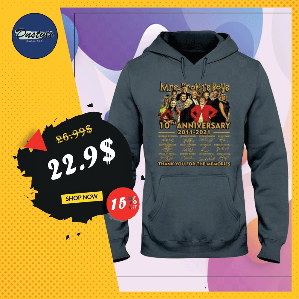 Mrs.Brown's boys 10th anniversary 2011 2012 signatures hoodie