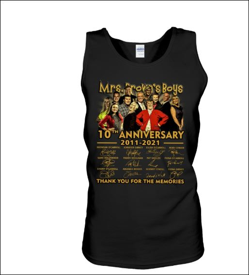 Mrs.Brown's boys 10th anniversary 2011 2012 signatures tank top