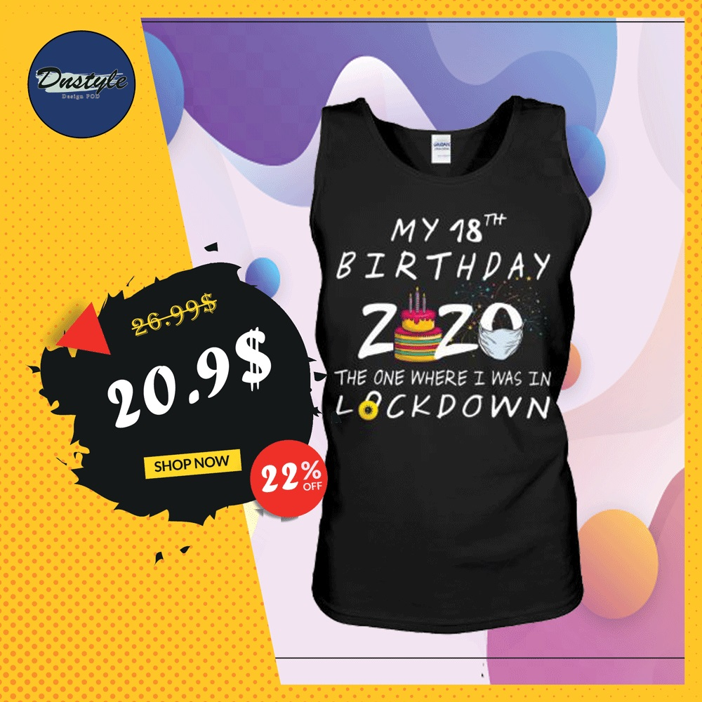My 18th birthday 2020 the one where i was in lockdown tank top
