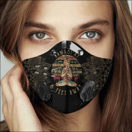 Namastay 7 feet away filter activated carbon Pm 2.5 Fm face mask