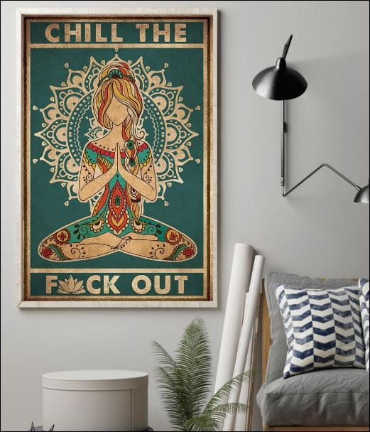 Namaste chillout fuck out poster