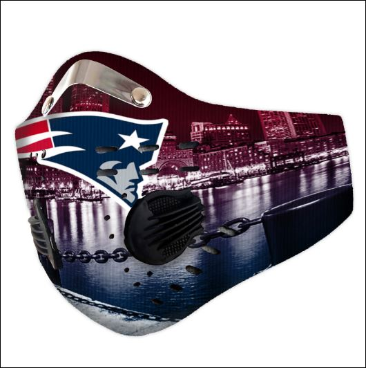New England Patriots filter activated carbon face mask