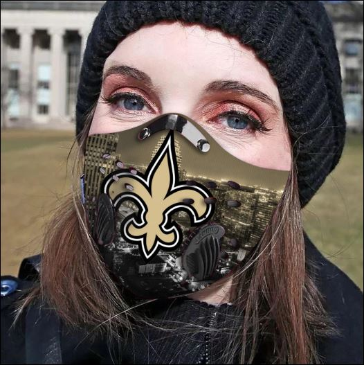 New Orleans Saints filter activated carbon face mask