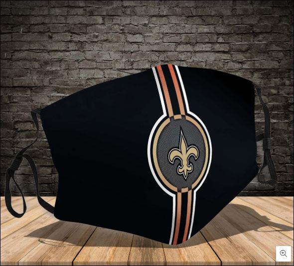New Orleans Saints logo face mask