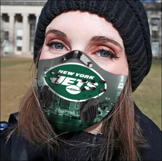 New York Jets filter activated carbon face mask