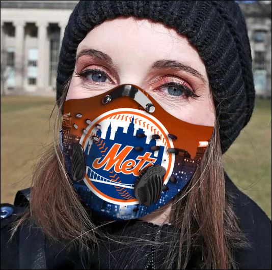 New York Mets filter activated carbon face mask