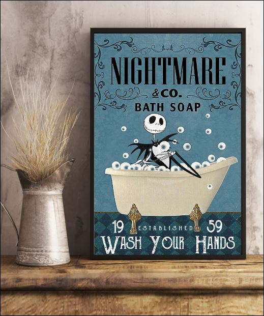 Nightmare co bath soap wash your hands poster
