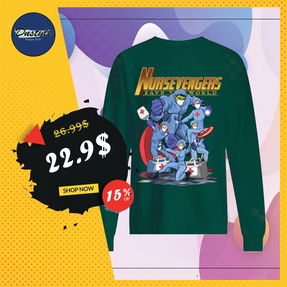 Nursevengers save the world sweater