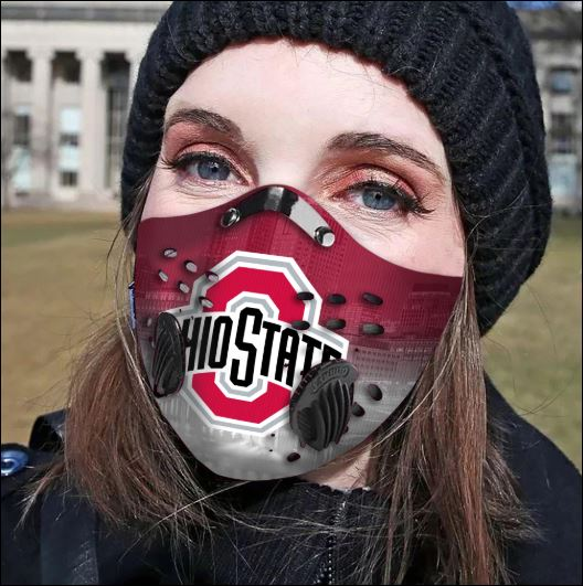 Ohio State Buckeyes filter activated carbon face mask