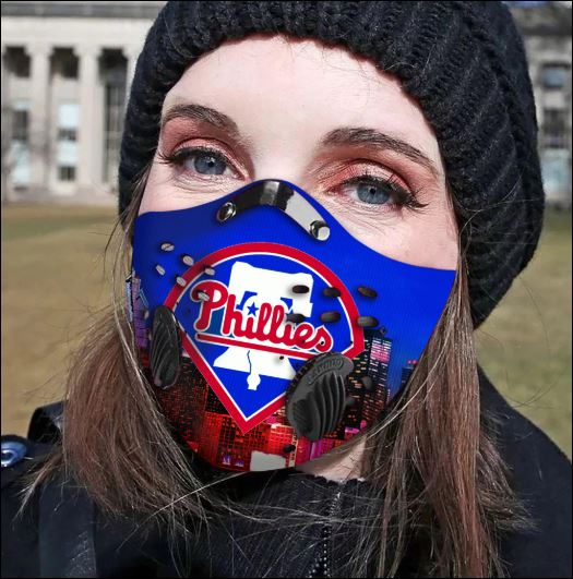 Philadelphia Phillies filter activated carbon face mask