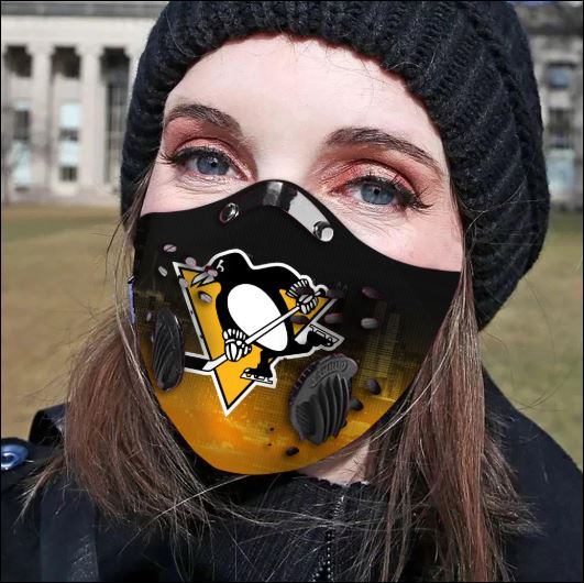 Pittsburgh Penguins filter activated carbon face mask