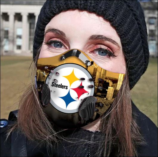 Pittsburgh Steelers filter activated carbon face mask