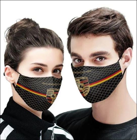 Porsche logo face mask