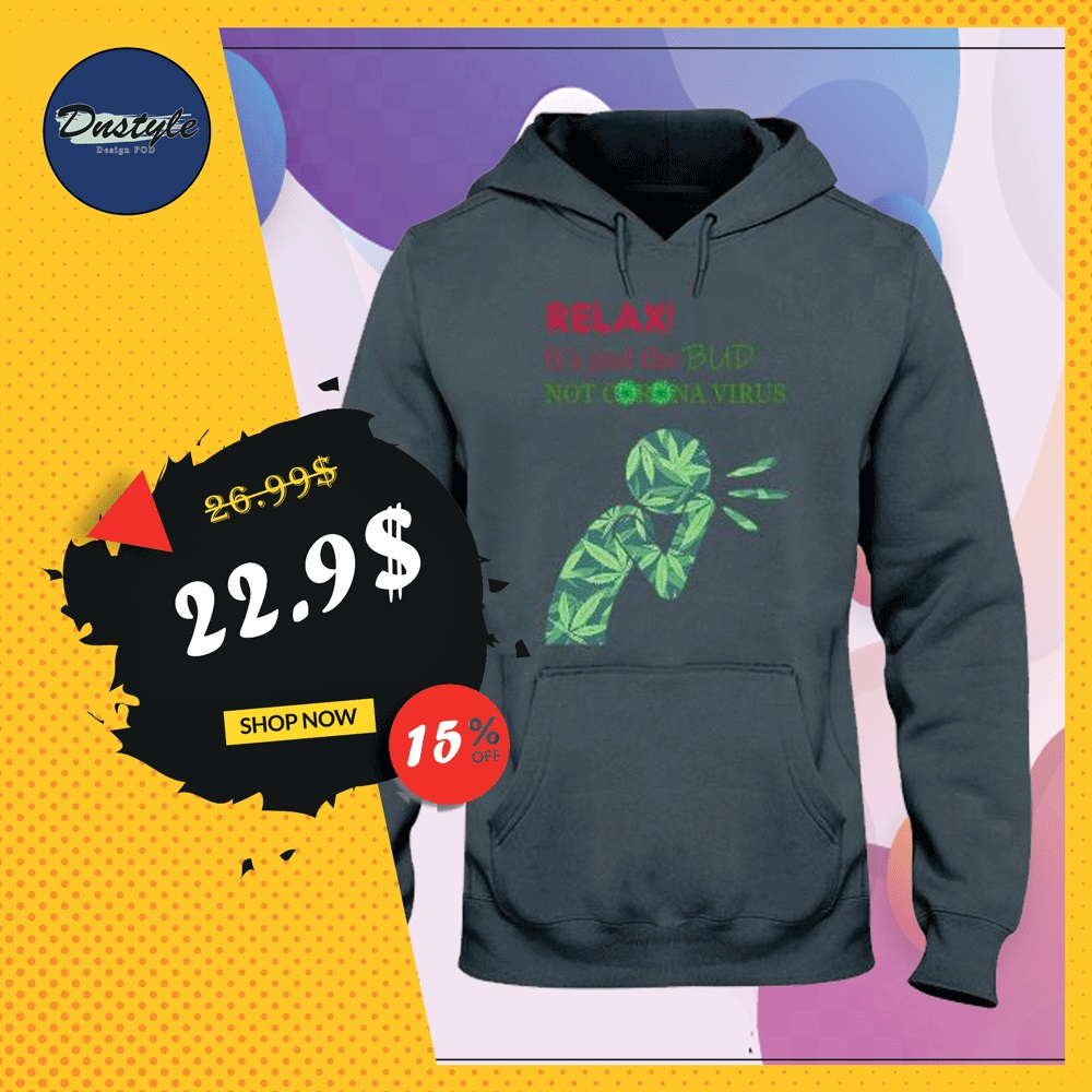 Relax it's just a bub not corona virus hoodie