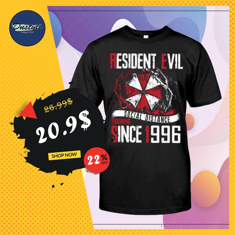 Resident Evil social distance training since 1996 shirt
