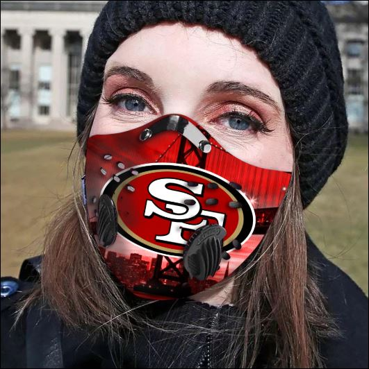 San Francisco 49ers filter activated carbon face mask