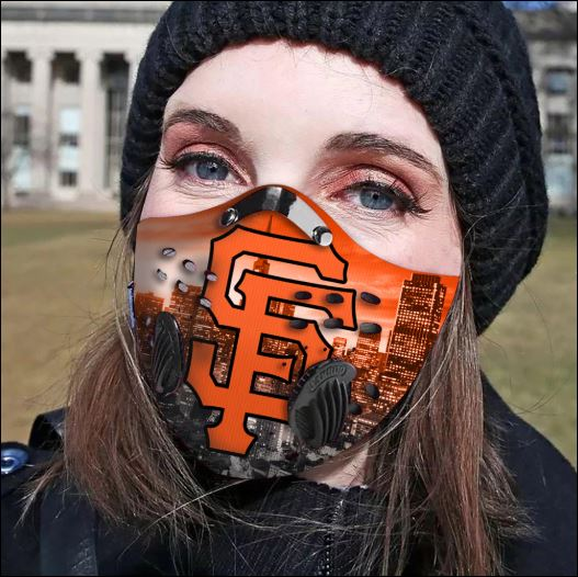 San Francisco Giants filter activated carbon face mask
