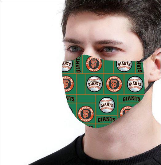 San Francisco Giants logo face mask 3D